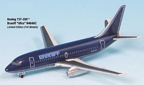 Airplane Miniature Braniff Ultra N464AC Boeing 737-200 1:500 Part# A015-IF5732007