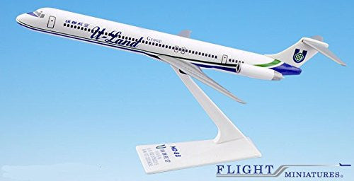 U-Land MD-80 Airplane Miniature Model Plastic Snap Fit 1:200 Part# AMD-08000H-013