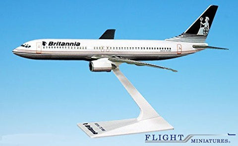 Britannia (OC) 737-800 Airplane Miniature Model Plastic Snap-Fit 1:200 Part# ABO-73780H-013