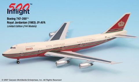 ALIA Red Schemed JY-AFA 747-200 Airplane Miniature Model Die-Cast 1:500 Part# A015-IF5742006