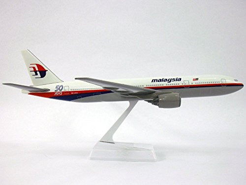 Malaysia 50th Anniversary. Boeing 777-200 Airplane Miniature Model Snap Fit 1:200 Part#ABO-77720H-016