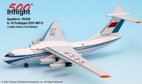 Prototype colors CCCP-86712 IL-76 Airplane Miniature Model Metal Die-Cast 1:500 Part# A015-IF5176005