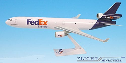FedEx (05-Cur) MD-11 Airplane Miniature Model Snap Fit 1:200 Part# AMD-01100H-030