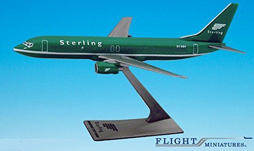 "Sterling ""Green"" 737-800 Airplane Miniature Model Plastic Snap-Fit 1:200 Part#ABO-73780H-017"