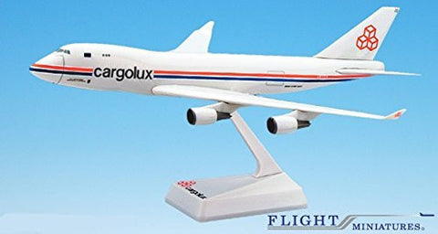 Cargolux 747-400 Airplane Miniature Model Plastic Snap-Fit 1:250 Part# ABO-74740I-030