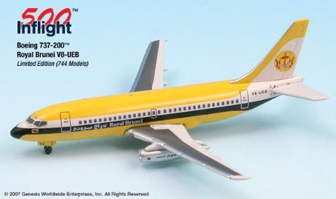 Royal Brunei V8-UEB 737-200 Airplane Miniature Model Metal Die-Cast 1:500 Part# A015-IF5732006