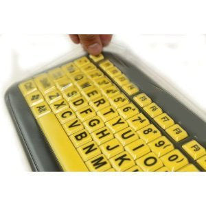 Biosafe Anti Microbial Keyboard Cover for EZ Eyes Large Print Keyboard - Protect From Dirt, Dust, Liquids and Contaminants, Fights Microbes and Germs which may Adhere to Typing Finger Tips - Clean Solution for Laboratories, Hospitals, and Clean Rooms - T