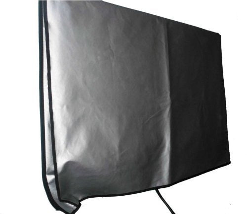 "Large Flat Screen TV (46"") Vinyl Padded Dust Silver Color Covers Ideal for Outdoor Locations Such as Restaurants, Hotels, Marinas or Poolside Locations (46"" Cover - 42.5"" x 3""x 25.5"")"