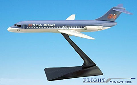 British Midland DC-9 Airplane Miniature Model Plastic Snap-Fit 1:200 Part#ADC-00903H-001