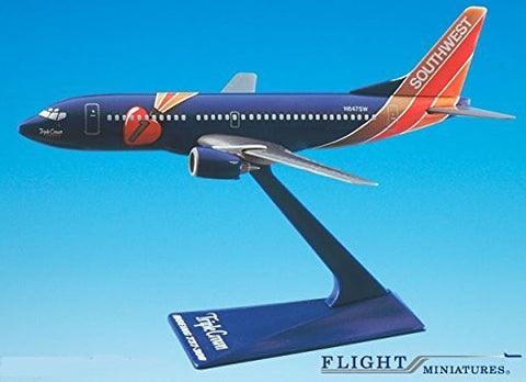 Southwest Triple Crown 737-300 Airplane Miniature Model Plastic Snap Fit 1:200 Part# ABO-73730H-404