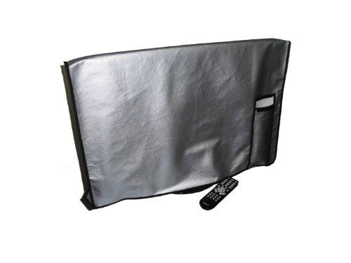 "Large Flat Screen TV / LED / HDTV Vinyl Padded Dust Covers With Remote Control Pocket For Protection from Weather Elements Ideal for Outdoor Locations Such as Restaurants, Hotels, Marinas or Poolside Locations (60"" Cover - 55"" x 4"" x 34"")"