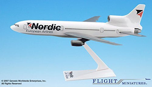 Nordic Lockheed L-1011 Airplane Miniature Model Snap Fit Kit 1:250 Part# ALK-10110I-019