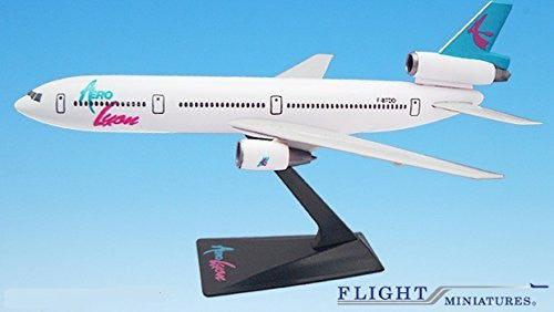 Aerolyon DC-10 Airplane Miniature Model Snap Fit Kit 1:250 Part# ADC-01000I-020