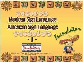 MSL Mexican Sign Language to from ASL American Sign Language Translator Dictionary for Windows Only