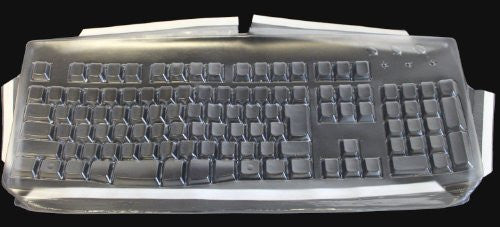 Biosafe Anti Microbial Keyboard Cover for Dell U473D Slim Multimedia Keyboard; Keeps Out Dirt Dust Liquids and Contaminants - Keyboard not Included
