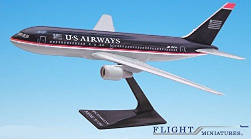 US Airways (97-05) 767-200 Airplane Miniature Model Plastic Snap-Fit 1:200 Part# ABO-76720H-016