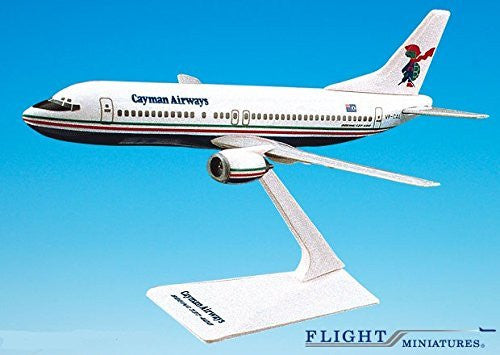 Cayman Airways 737-400 Airplane Miniature Model Plastic Snap-Fit 1:185 Part# ABO-73740G-002