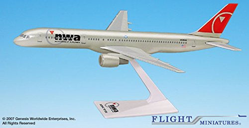 Boeing 757-200 Northwest Airlines 1/200 Scale Model by Flight Miniatures #ABO-75730H-006
