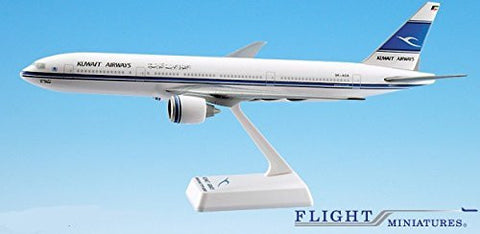 Kuwait 777-200 Airplane Miniature Model Plastic Snap-Fit 1:200 Part# ABO-77720H-019
