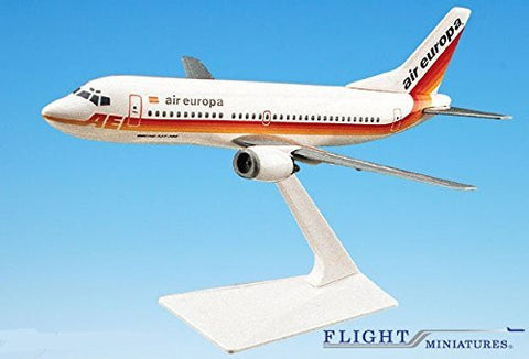 Air Europa 737-300 Airplane Miniature Model Plastic Snap-Fit 1:180 Part# ABO-73730F-016