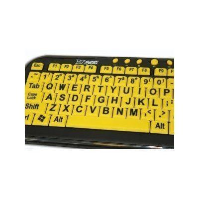 EZ See Large Print USB Wired Keyboard Bundled with Custom Made Viziflex Keyboard Cover