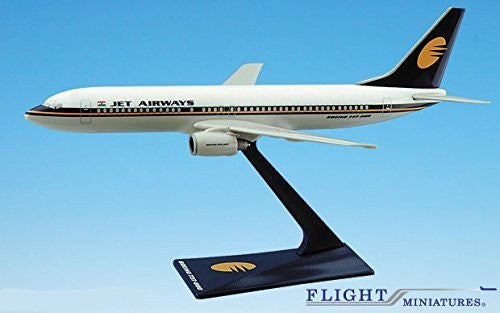 Jet Airways (93-Cur) 737-800 Airplane Miniature Model Plastic Snap-Fit 1:200 Part# ABO-73780H-005