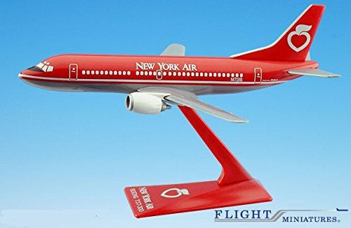 New York Air 737-300 Airplane Miniature Model Snap Fit Kit 1:180 Part# ABO-73730F-014