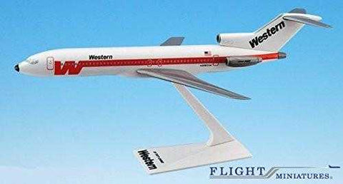 Western 727-200 Airplane Miniature Model Plastic Snap-Fit 1:200 Part# ABO-72720H-015