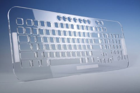 Transparent Sturdy Acrylic Keyguard Custom Made for EZSee Large Print Keyboards (Keyboard NOT Included)