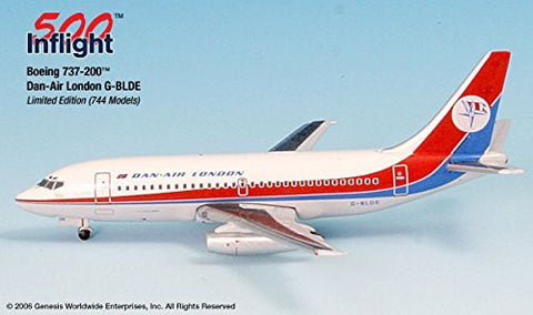 Dan Air London G-BLDE 737-200 Airplane Miniature Model Metal Die-Cast 1:500 Part# A015-IF5732002
