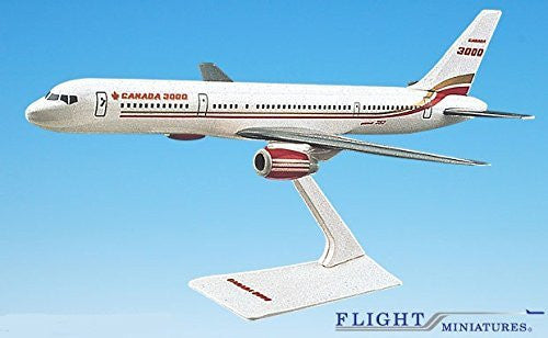 Canada 3000 757-200 Airplane Miniature Model Plastic Snap-Fit 1:200 Part# AAB-32020H-014