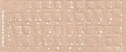 Computer Keyboard Croatian Keyboard Stickers - Labels - Overlays