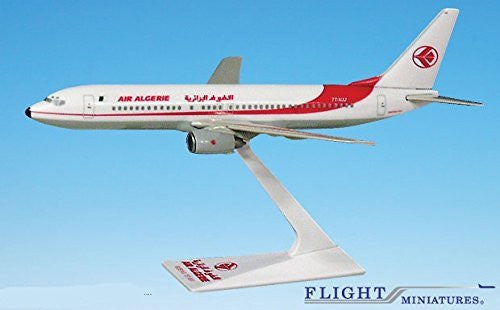 Air Algerie 737-800 Airplane Miniature Model Snap Fit 1:200 Part#ABO-73780H-014