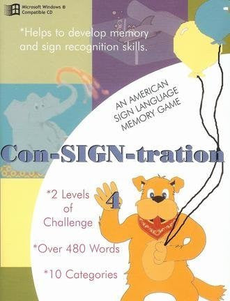 ASL American Sign Language Con-SIGN-tration Memory Game #4 for Windows Only