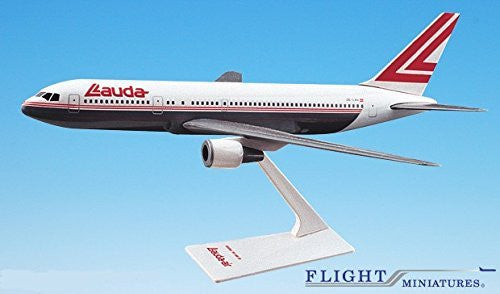 Lauda Air (OC) 767-300 Airplane Miniature Model Plastic Snap-Fit 1:200 Part#ABO-76730H-003