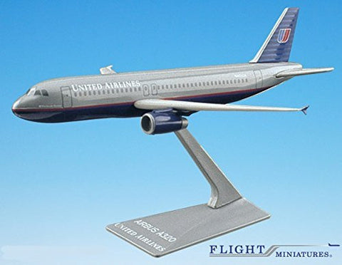 United (93-04) Airbus A320-200 Airplane Miniature Model Plastic Snap Fit 1:200 Part# AAB-32020H-009