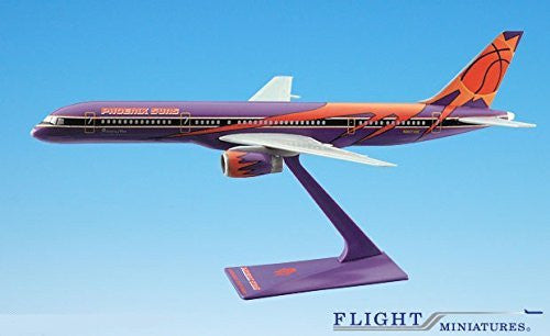 "America West ""Phx Suns"" 757-200 Airplane Miniature Model Plastic Snap-Fit 1:200 Part# ABO-75720H-601"