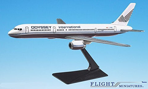 Odyssey International Boeing 757-200 Airplane Miniature Model Plastic Snap Fit 1:200 Part# ABO-75720H-005