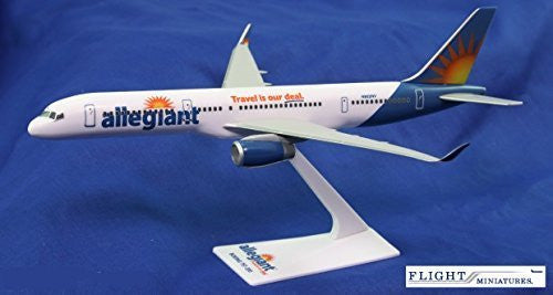 Allegiant Air 757-200 Airplane Miniature Model Plastic Snap-Fit 1:200 Part# ABO-75720H-059