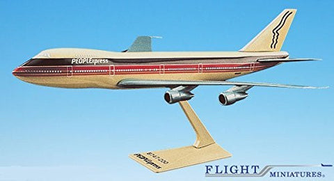 PEOPLExpress 747-100/200 Airplane Miniature Model Plastic Snap-Fit 1:250 Part# ABO-74710I-013