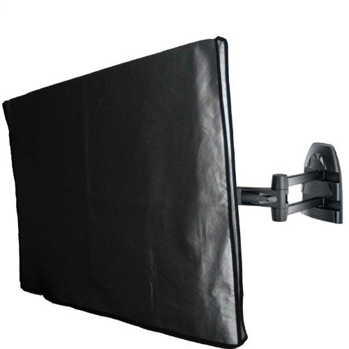 Large Flat Screen TV / LED / HDTV Vinyl Padded Dust Covers With Remote Control Pocket