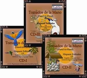 "MSL Mexican Sign Language ""Tamados de la Mano"" Hand in Hand CD - I, II & III Bundle - Hispanic Stories for Windows Only"