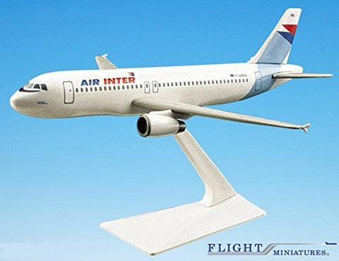 Air Inter France A320-200 Airplane Miniature Model Plastic Snap-Fit 1:200 Part# AAB-32020H-015