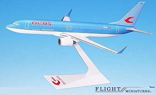 Neos 737-800 Airplane Miniature Model Plastic Snap-Fit 1:200 Part#ABO-73780H-029