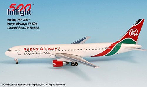 Kenya Airways 5Y-KQX 767-300 Airplane Miniature Model Metal Die-Cast 1:500 Part# A015-IF5763001