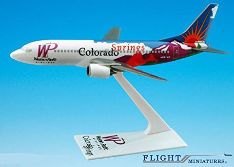 Western Pacific Colorado Boeing 737-300 Airplane Miniature Model Plastic Snap Fit 1:200 Part# ABO-73730H-401