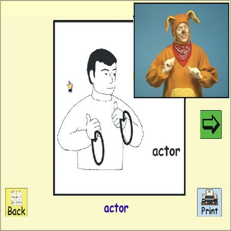 ASL American Sign Language Tales and Games for Kids #2 (Biscuit Boulevard) for Windows Only