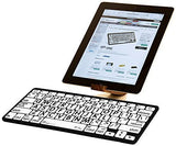 LogicKeyboard Large Print Black on White Bluetooth Mini Keyboard For Apple iPad and iPhone - Tablet not Included -  LKBU-LPBW-BTON-US