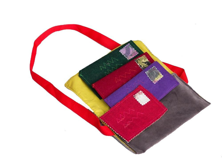 "Handmade Spanish Mail Bag Set - Mail Bag (8"" x 0.5"" x 5"") - Letters (6"" x 0.1"" x 3"") - Made by Women Artisans"
