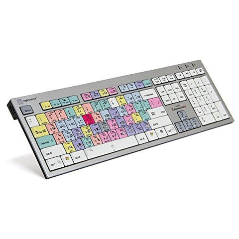 Logickeyboard Adobe Illustrator CC Slim Line PC Keyboard | Shortcut Keyboard for Adobe Illustrator CC - LKBU-ILSTCC-AJPU-US